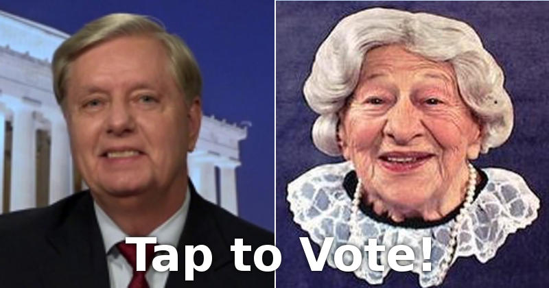 Lindsey Graham vs. Where's the Beef Lady